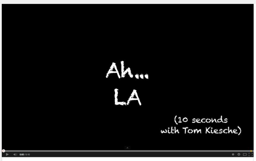 """""""Ah… LA"""""""