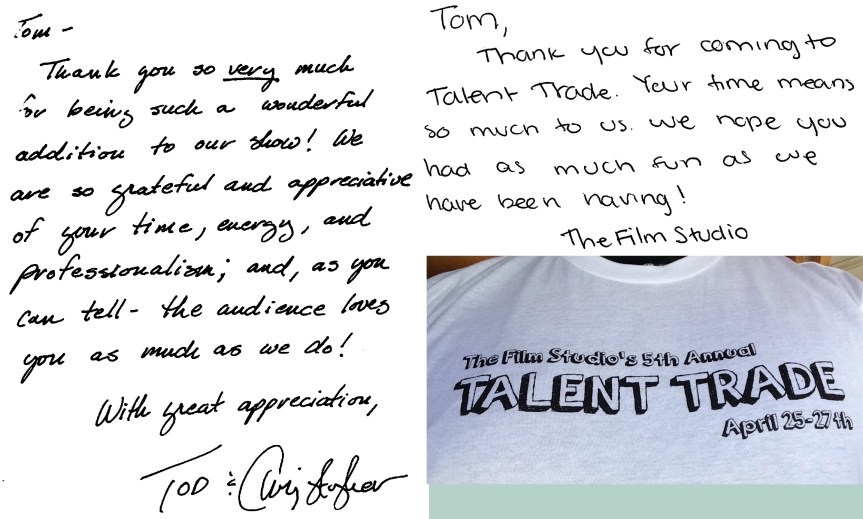 Two Thank You Notes & a T-shirt.
