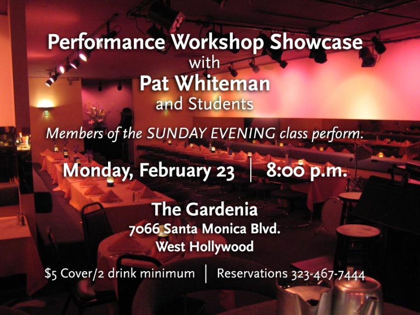 Just FYI – My Class Performance Student Workshop Showcase Sharpening Experiment