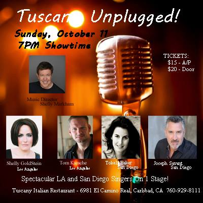 This Sunday, October 11th (On Stage, Solo, in Carlsbad)