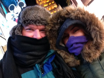 Cold much? Times Square.